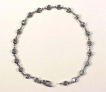 Tiffany Peretti Platinum &  2.3 Carat Diamond Bracelet