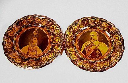 King Edward VII & Queen Alexandra Staffordshire Plates