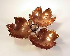 Alfredo Sciarrotta Copper Triple Leaf Dish