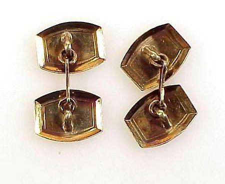 Edwardian 14K Yellow Gold Double-Sided Cufflinks