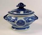Chinese Export Porcelain Blue Fitzhugh Sauce Tureen
