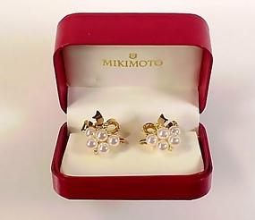 Mikimoto 18K Gold, Diamond & AAA Pearl Earrings