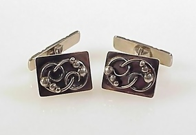 Art Deco Scandinavian Sterling Silver Cufflinks