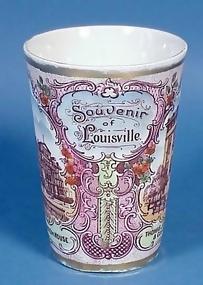 Austrian Porcelain LOUISVILLE Souvenir Glass