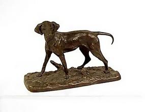 Pierre Jules Mene Hound Animalier Bronze