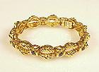 Vintage Tiffany & Co. 18K Yellow Gold Sapphire Bracelet