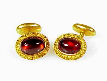 Victorian 14K Gold & Almandite Garnet Cufflinks