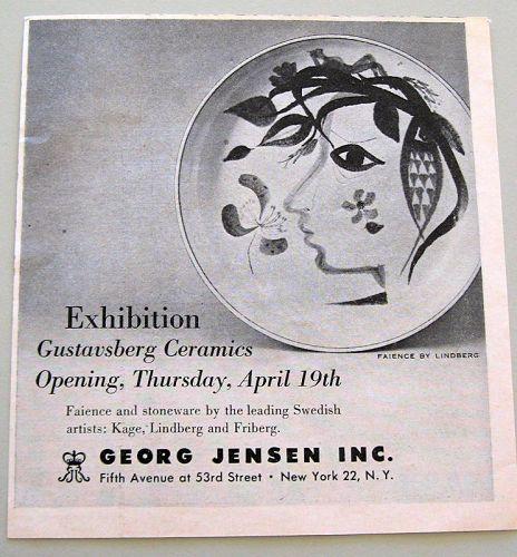 Vintage Advertising for Gustavsberg ceramics