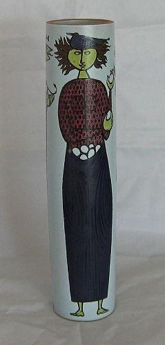 "Large ""Karnaval"" faience vase designed by Stig Lindberg"