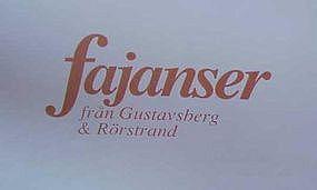 FAIENCE MARKINGS FOR GUSTAVSBERG