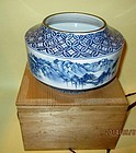 Beautiful Japanese Studio vase Blue and white