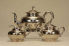 Chinese Silver Tea Set HUNGCHONG SHANGHAI Signed
