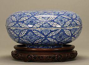 Japanese Blue & White Sometsuke Box