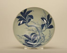 Japanese Nabeshima Tree Branches Footed Dish