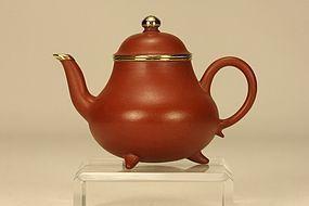 Superb Chinese Yixing Teapot MENGCHEN w Inscription