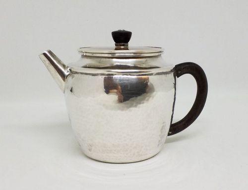 Japanese Silver Teapot w Copper Lid