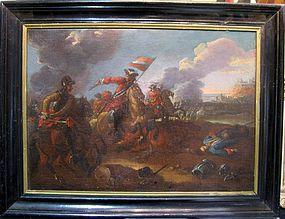 Men & Horses in Battle Field: August Querfurt, School