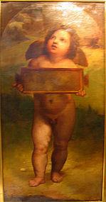 Large 18th C Cupid: 18th C Italian