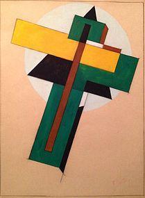 El Lazar Markovich Lissitzky, Composition, circa 1930-40,signed