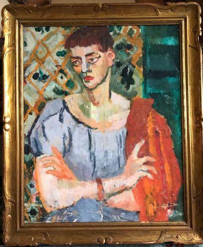 John Ulbricht, Portrait of Lady, Oil, Canvas, 1950