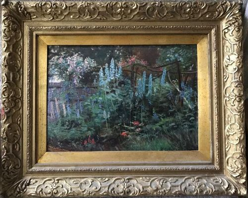 Exquisite English Garden, Charles Earnest Butler, English, Oil, Signed