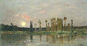 Sunrise Along a River: Hippolyte Camille Delpy