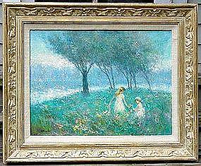 Children in Flower Field :Richard Earl Thompson Sr.