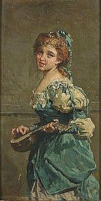 Aristocratic Lady with Lute: Salvatore Postiglione