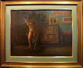 Nude in a Library: Everett Shinn