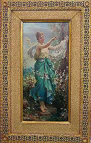 """""""Beautiful Girl in Springtime"""": Hans Zatzka"""