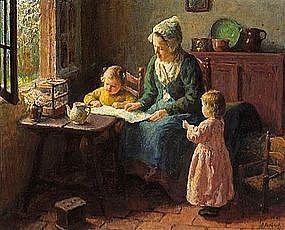 Mother Reading with Children: Bernard Pothast