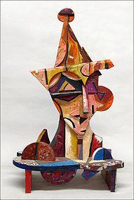 Untitled Cubist Head of Jester: Italo Scanga