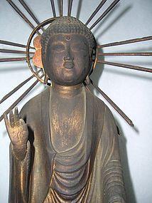 Antique Japanese Zen Buddhist Amida Buddha C.1860