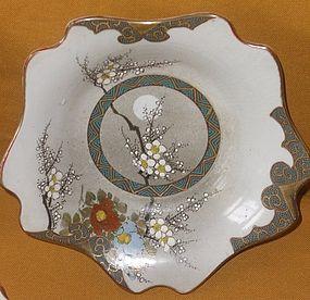 Antique Japanese C.1914  Plum-Moon Kutani Plates