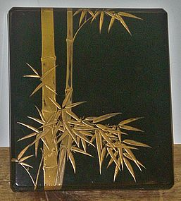 Antique Japanese Lacquered Caligraphy Box