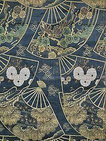 Antique Japanese Meiji Period Maru Obi C.1900