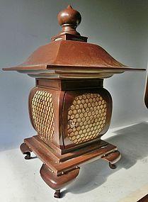 Antique Japanese Bronze C.1935 Oil Lamp