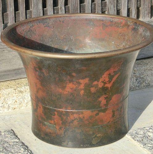 Antique Japanese Large Murashido Bronze Brazier/Flower Vase