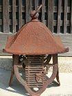 Antique Japanese Iron Hanging Lantern C.1920