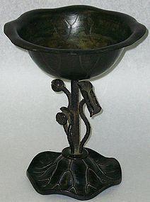 Superb Antique Japanese Bronze Temple Water Vase