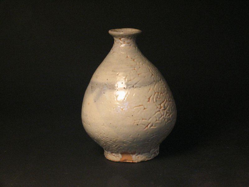 White slip bottle (vase)by Sadamitsu Sugimoto,the great master hand