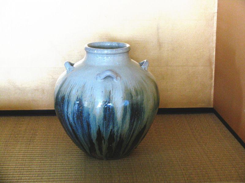 Chosen-karatsu Tea jar by Dohei Fujinoki the popular artist KARATSU