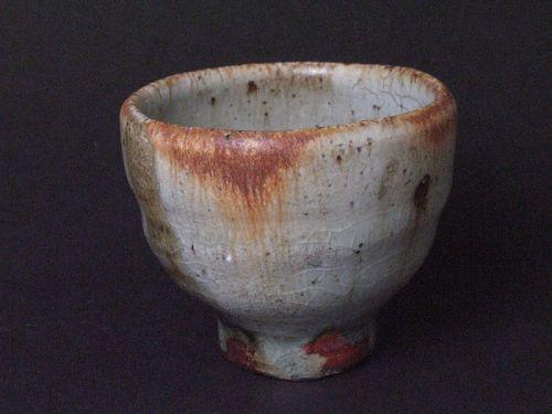 White-slip(kohiki) sake cup by Junri Hamada the skilled artist MINO