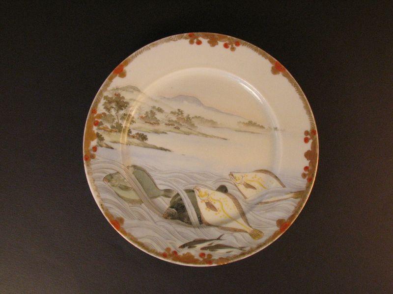"""Yokohama-SATSUMA plate main pattern fishes focused on """"flatfishes"""""""