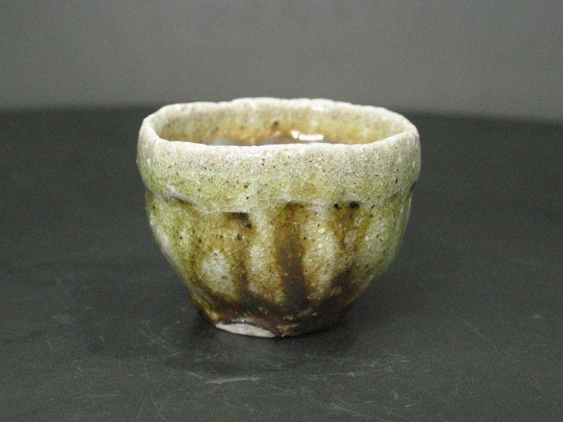 Kararsu ashes covered sake cup by popular potter Dohei Fujinoki