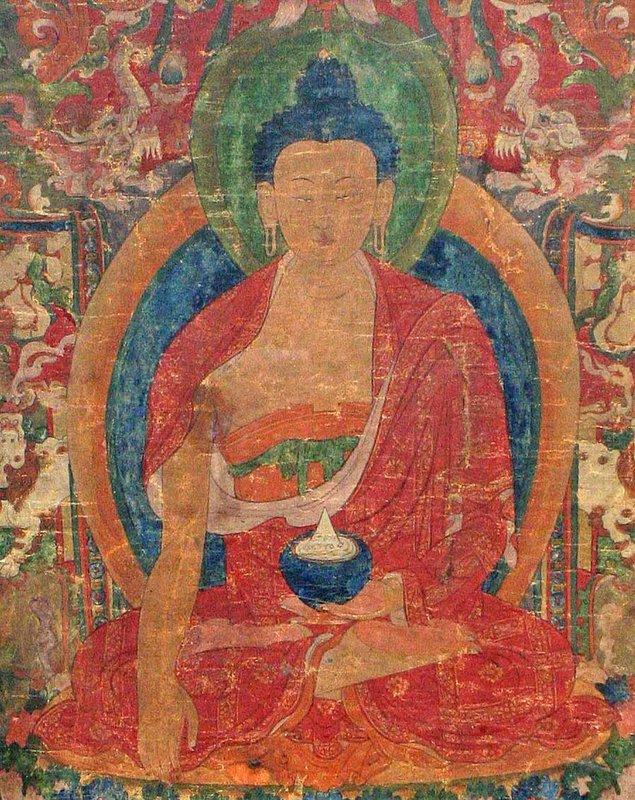 17th Century Tibetan Bhaisajyaguru Thangka
