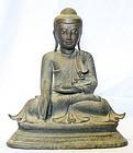 Burmese Bronze Buddha with Movable Hand