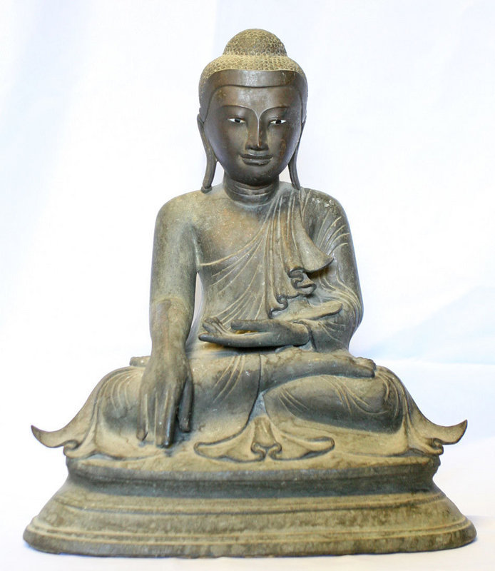 Burmese Bronze Buddha with Movable Hand