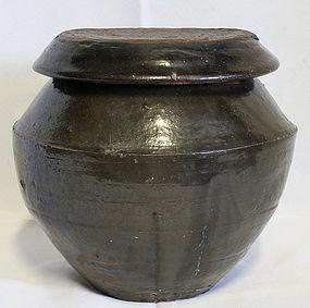 Antique Onggi Medicinal Pot from Gyeonggi Province