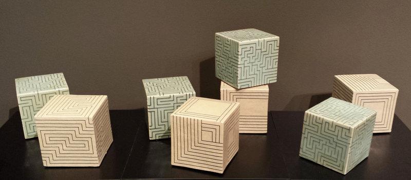 Joo Ji Wan Celadon and White Stoneware Octet